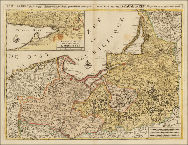 Poland and Baltic Countries Map By Jan Barend Elwe