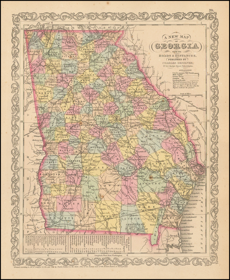 Georgia Map By Charles Desilver