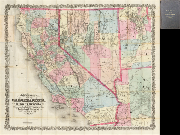 92-Southwest, Nevada, Rocky Mountains and California Map By A.L. Bancroft & Co.