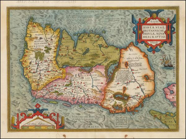 94-Ireland Map By Abraham Ortelius