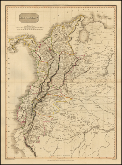 56-South America and Colombia Map By John Pinkerton