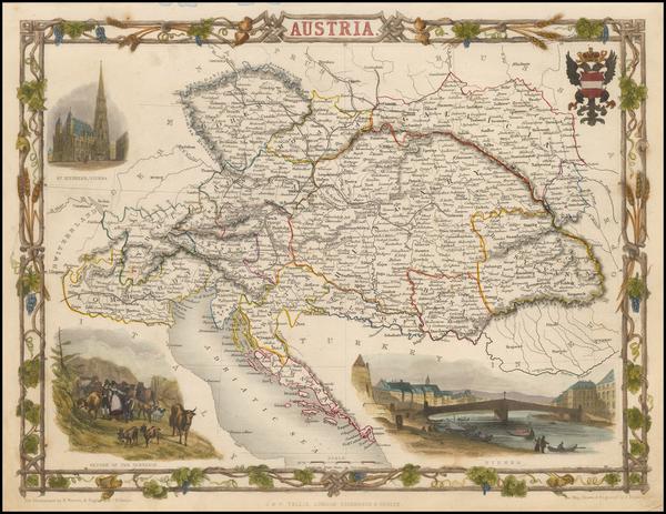31-Austria Map By John Tallis