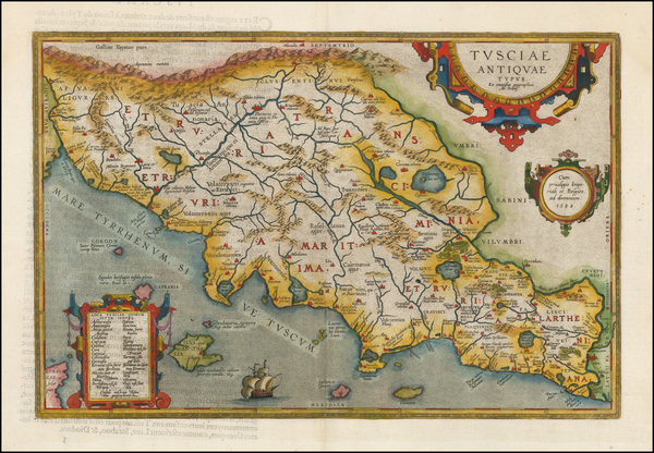 96-Northern Italy Map By Abraham Ortelius