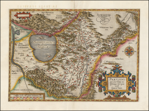 77-Italy Map By Abraham Ortelius