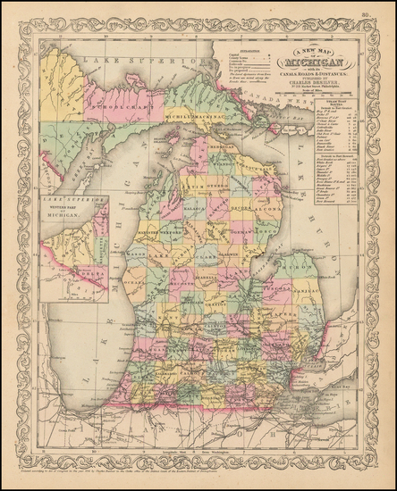 Michigan Map By Charles Desilver