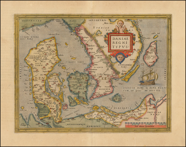 73-Scandinavia Map By Abraham Ortelius