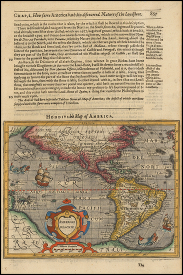 9-Western Hemisphere, South America and America Map By Jodocus Hondius -  Gerard Mercator