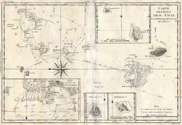 62-Australia & Oceania and Other Pacific Islands Map By Rigobert Bonne