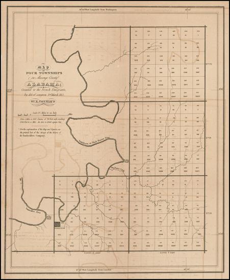 61-South and Alabama Map By E. Paguenaud