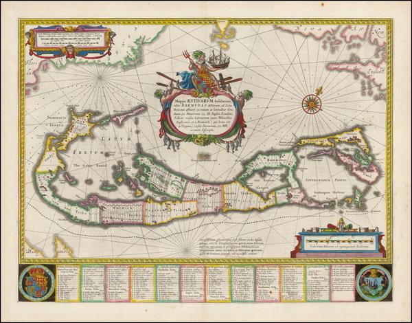 17-Bermuda Map By Willem Janszoon Blaeu