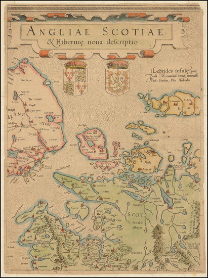 61-British Isles, Scotland and Ireland Map By  Gerard Mercator