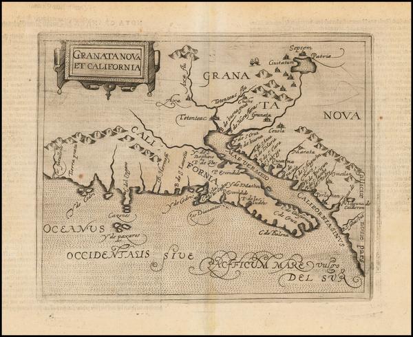 92-Southwest, Baja California and California Map By Johannes Matalius Metellus