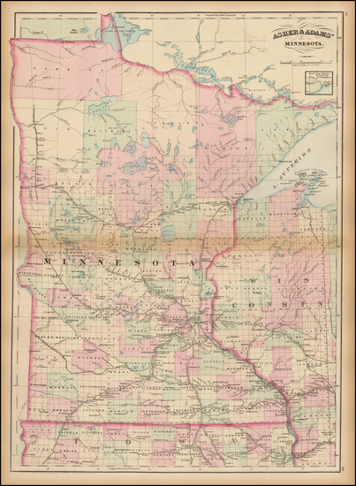 19-Midwest and Minnesota Map By Asher  &  Adams