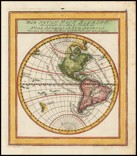 43-Western Hemisphere, South America and America Map By Gabriel Bodenehr