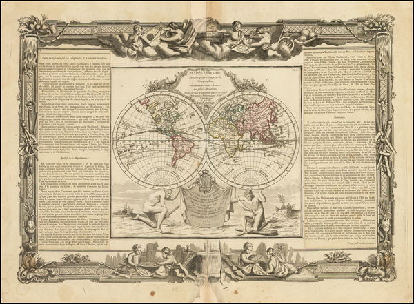 83-World Map By Louis Brion de la Tour