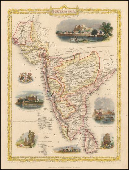 76-India and Other Islands Map By John Tallis