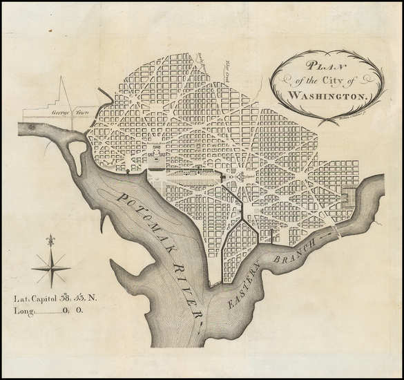 73-Washington, D.C. Map By John Vallance  &  James Thackara