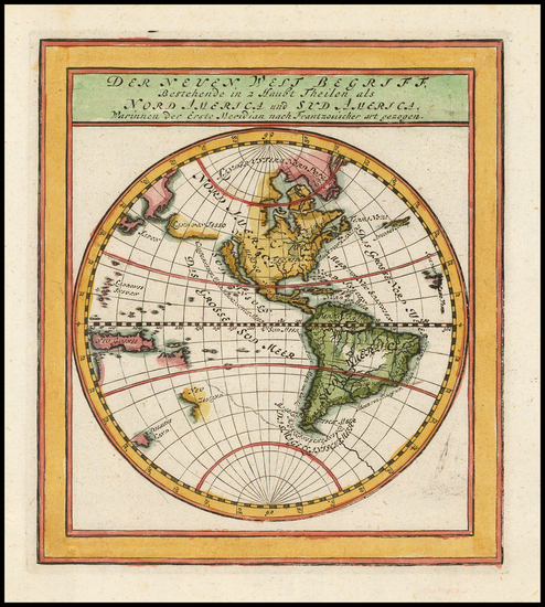 20-Western Hemisphere, South America and America Map By Gabriel Bodenehr