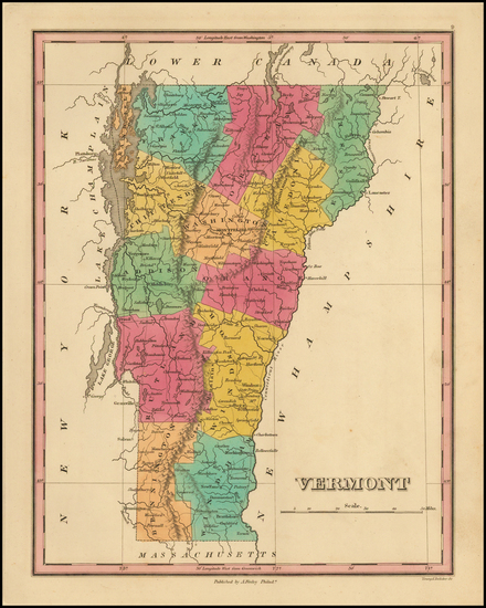 30-New England and Vermont Map By Anthony Finley