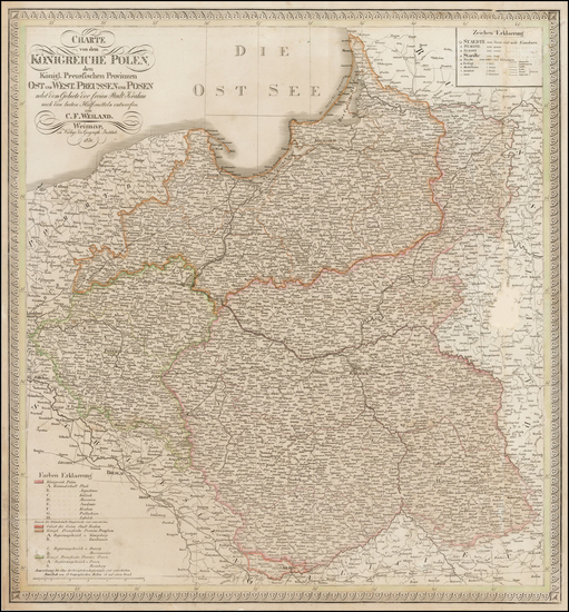 26-Poland Map By Carl Ferdinand Weiland