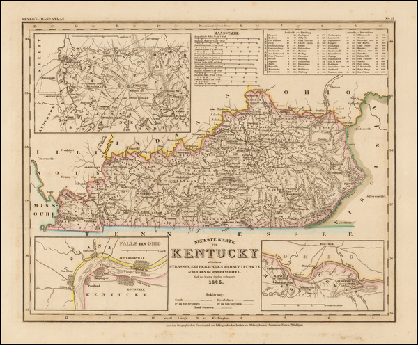 8-South and Kentucky Map By Joseph Meyer