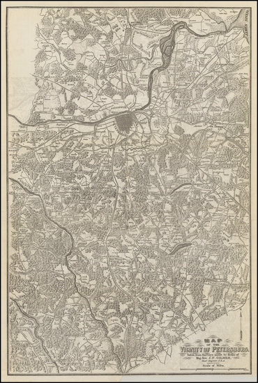 55-Virginia and Civil War Map By Jeremy Francis Gilmer