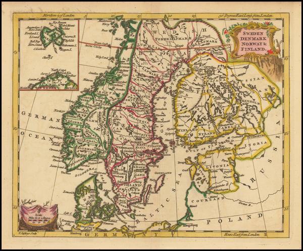 61-Scandinavia Map By Thomas Jefferys