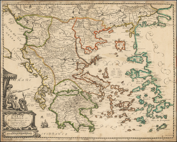 45-Greece and Turkey Map By Nicolas Langlois