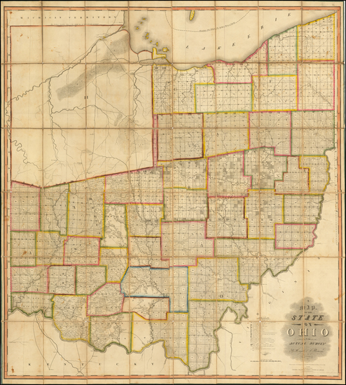 7-Midwest and Ohio Map By John Melish / Benjamin Hough / Alexander Bourne
