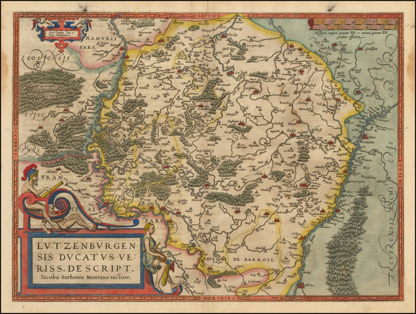 5-Luxembourg Map By Abraham Ortelius