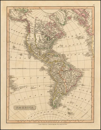 82-South America and America Map By Charles Smith