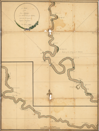 45-South and Louisiana Map By Captain McGrudar / Abraham Ellery / Alexander Hamilton