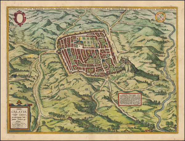 54-Italy and Other Italian Cities Map By Georg Braun  &  Frans Hogenberg