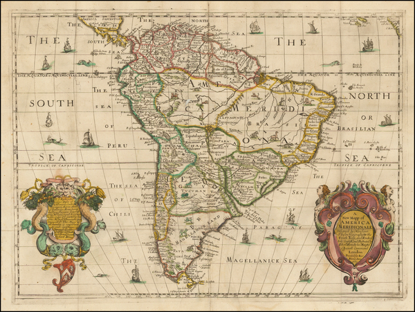 23-South America Map By Richard Blome