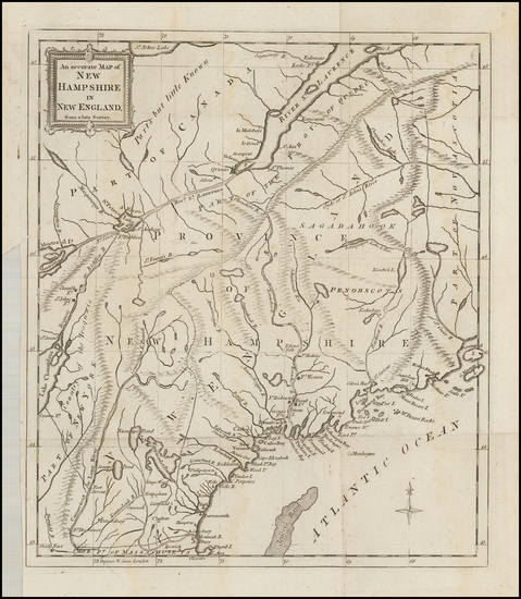 13-New England, New Hampshire and American Revolution Map By Universal Magazine