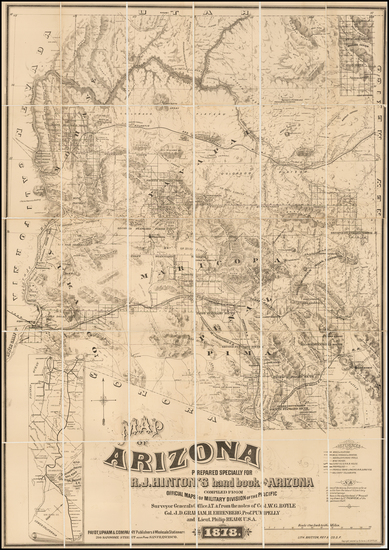 Southwest, Arizona and California Map By Richard J. Hinton