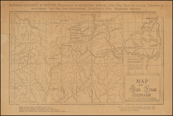 94-Rocky Mountains and Colorado Map By Frank C. Garbutt