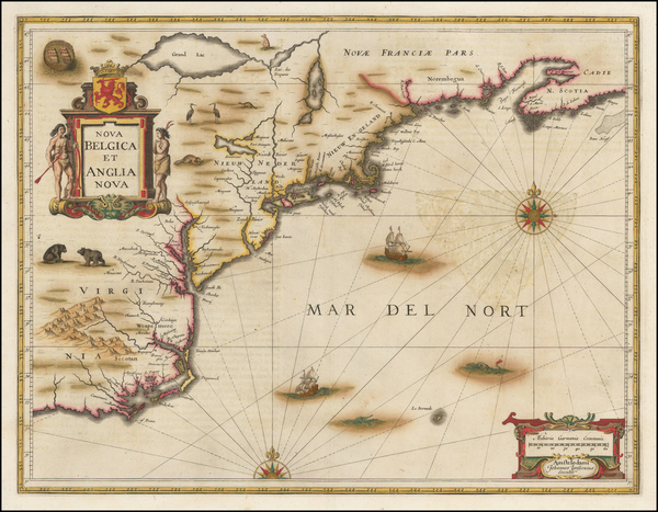 71-New England, Mid-Atlantic and Southeast Map By Jan Jansson