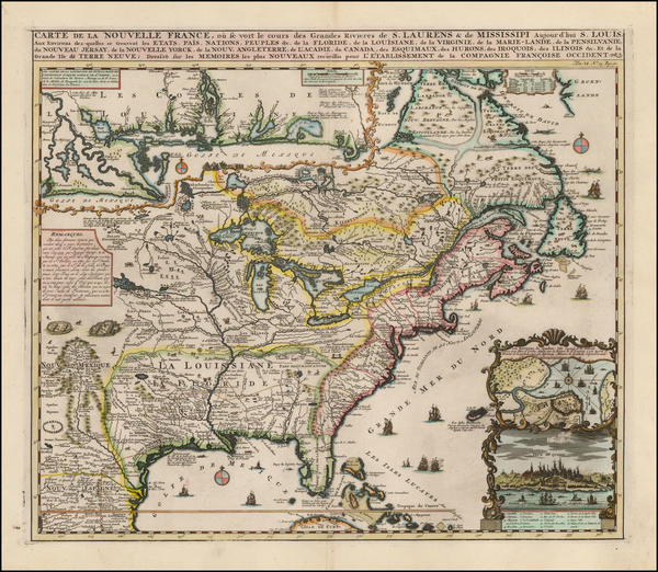 23-United States, Mid-Atlantic, South, Southeast, Midwest, Plains, North America and Canada Map By