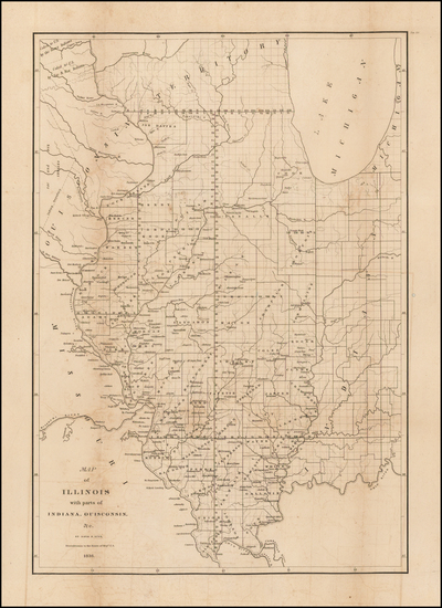 92-Midwest, Illinois and Plains Map By David Hugh Burr