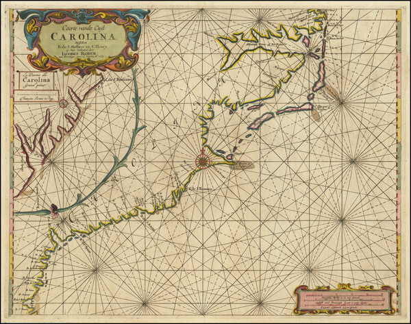100-Southeast, North Carolina and South Carolina Map By Jacobus Robijn