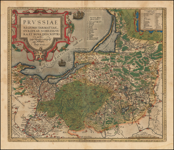 67-Germany, Poland and Baltic Countries Map By Abraham Ortelius