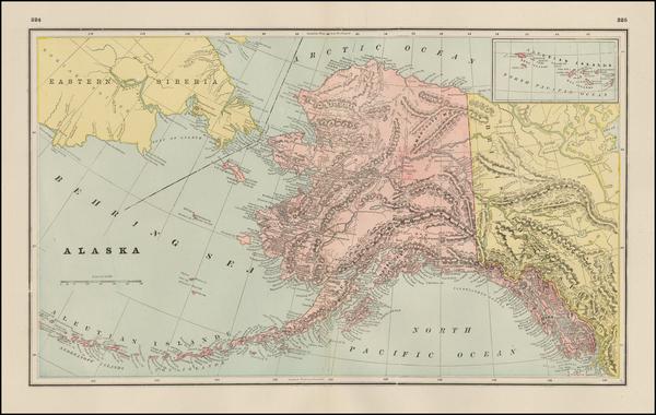 14-Alaska Map By George F. Cram