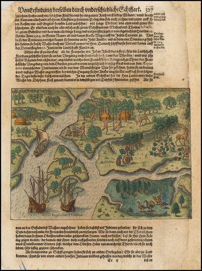 95-Southeast Map By Theodor De Bry