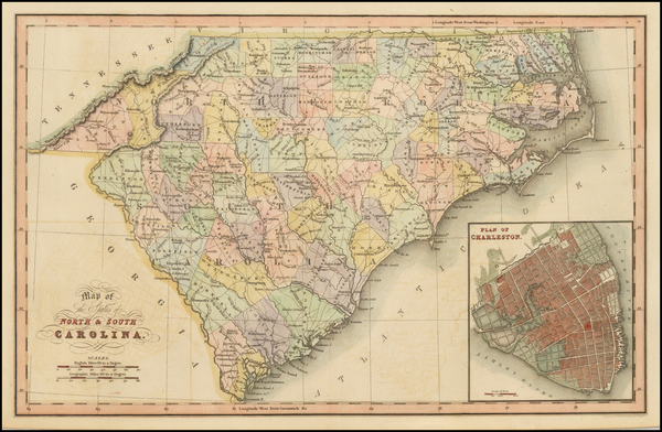 20-Southeast, North Carolina and South Carolina Map By Hinton, Simpkin & Marshall