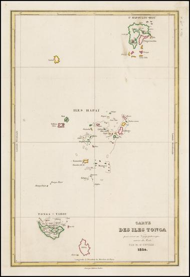 Other Pacific Islands Map By Jules Sebastian Cesar Dumont-D'Urville