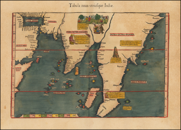 74-Indian Ocean, India, Southeast Asia and Other Islands Map By Lorenz Fries