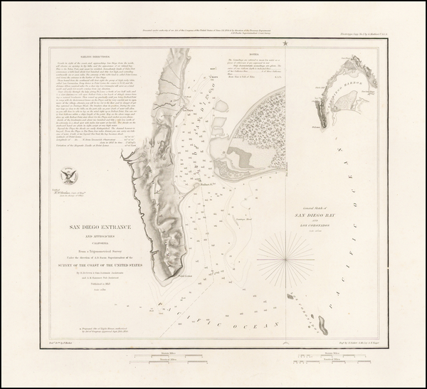 53-San Diego Map By U.S. Coast Survey