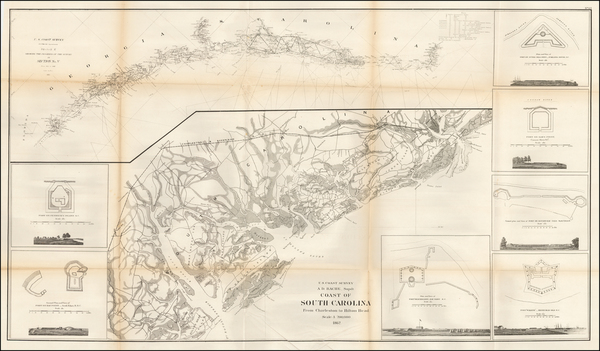 52-Southeast and South Carolina Map By United States Coast Survey
