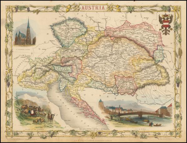 91-Austria Map By John Tallis